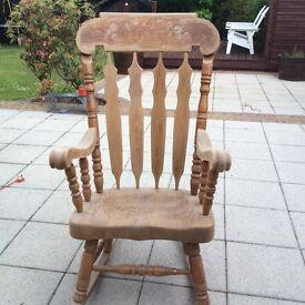 American oak rocking chair