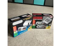 Nintendo NES and SNES Mini Classic Bundle + NES Bag Unopened