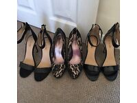 Three pairs stilettos immaculate condition