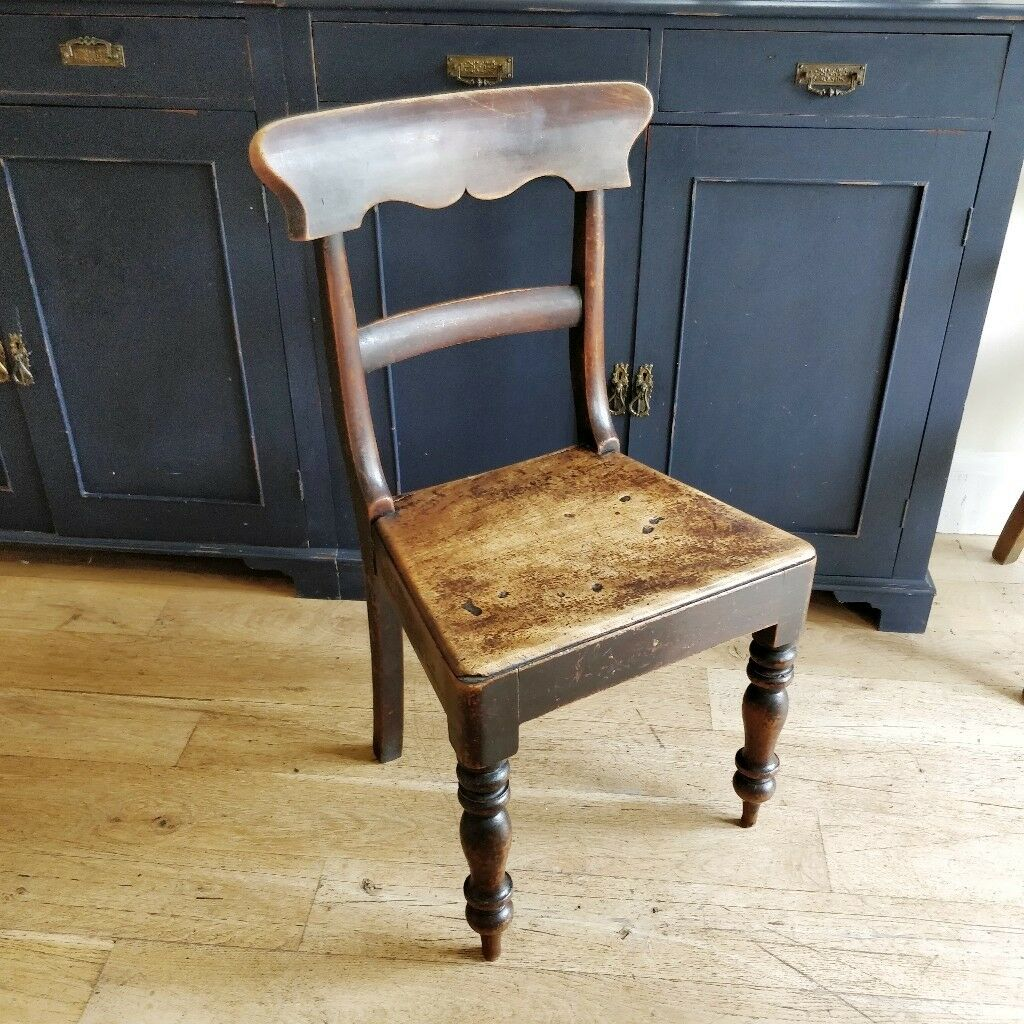 Georgian Chair. Antique Chair. Wooden Chair. Rustic Chair. Small Wooden  Chair.