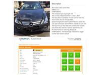 Mercedes E350 convertible HPI clear