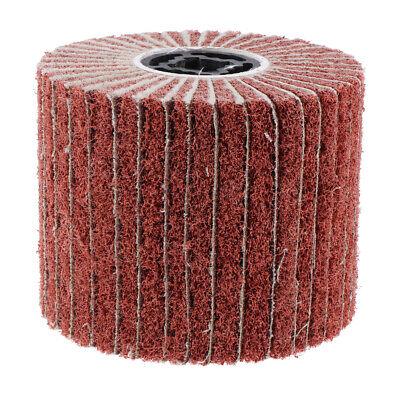 Wire Drawing Wheel Brush Drum Burnishing Polishing Buffer Wheel 40 Grit 120mm