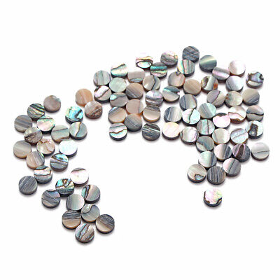 50 Pcs Green PAUA Abalone Inlay Dots 5mm For Guitar Ukulele Fingerboard Luthier - Inlay Abalone Fingerboard