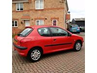 Peugeot206,Cheap and Wonderful Driving,Well maintained,Very efficient on Fuel, Low Mileage, MOT, 3dr