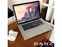 Apple Macbook Pro 15 - Intel i7 Quad 2.2Ghz - 320GB HD/4GB Ram - Adobe CS6/Final Cut/Logic Pro X