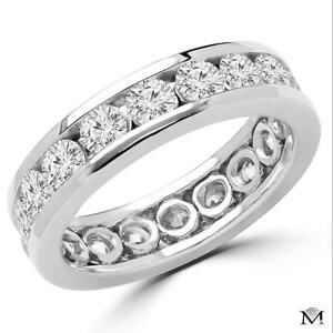 JONC ÉTERNITÉ EN OR 14K À DIAMANTS 2.00 CT TOTAL / 14K GOLD ETERNITY BAND WITH 2.00CTW DIAMONDS