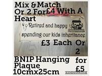 BNIP Retired & Happy Rectangular Plaque