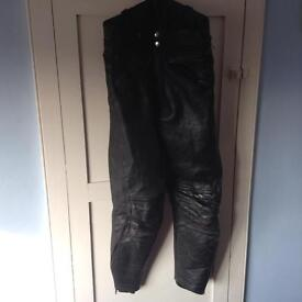 Vintage leather motorcycle trousers