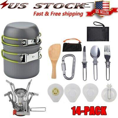 Portable Gas Camping Stove Butane Propane Burner Outdoor Hiking Picnic &Cookware