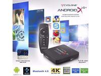 Sumvision TV Box Cyclone X4,+ 4K Streamer, 64bit Quad Core Android tv box loaded with kodi