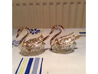 Swan shaped salt and pepper set