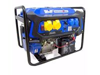 WOLF 7000W 110v 230v Dual Voltage 15HP Petrol Engine ELECTRIC START Generator.