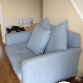 Sofa Laura Ashley two seater sofa pale blue VGC
