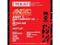 IN:MOTION / THE BLAST PRESENTS ANDY C - 2 x TICKETS