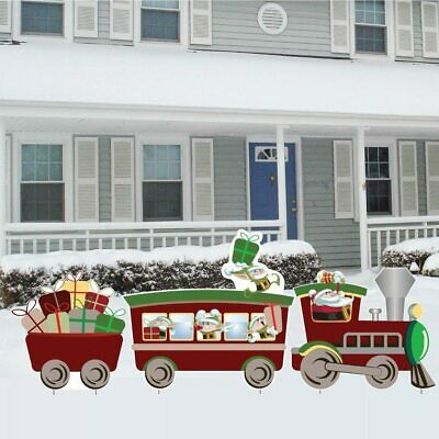 Christmas Train Set Yard Sign Display - FREE SHIPPING