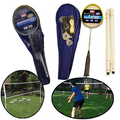 Badminton Set Professional 4 Player Racket Shuttlecock Poles Net Bag Sports Game