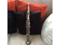 Vintage Martin soprano saxophone good condition but needs overhaul with original case