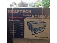 Powerful KT8500W Generator, 220V/ 380V, ideal for caravan, camping, vendor stalls and power tools