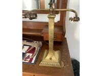 Brass desk/bankers lamp working just no shade