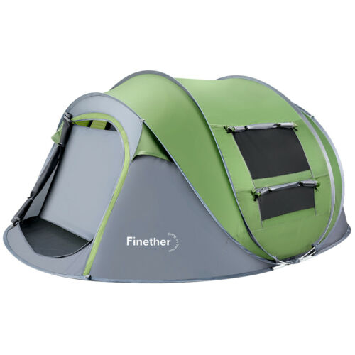 5 Person Outdoor Camping Instant Pop Up Tent Family Travel Waterproof Shelter US