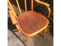 Vintage Bentwood Carver Armchair with Embossed Seat