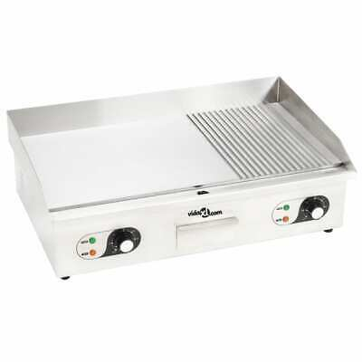 vidaXL Plancha Eléctrica de Cocina Acero Inoxidable 4400 W Parrilla de Asar