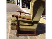 Wing back armchair. Parker Knoll