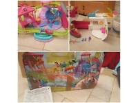 Polly Pocket Roller Coaster Resort & Cruise Ship / Boat