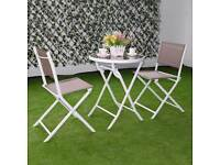 **FREE UK DELIVERY** 3 Piece Outdoor Foldable Bistro Set- BRAND NEW!