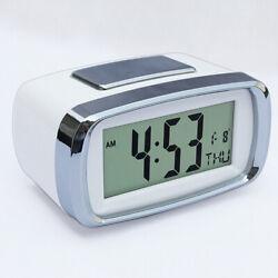 Battery Operated Snooze Clock Digital LED Backlight Alarm Clock Calendar