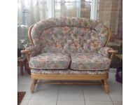 Two Seater Settee and Chair.