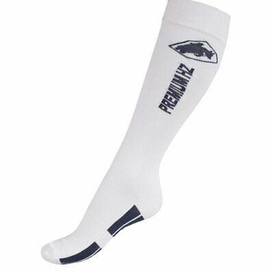 Horze Supreme Coolmax White Knee High English Field Hunt Boot Socks Toe 9 - Coolmax Knee High Sock