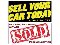FREE COLLECTION! WANTED ALL MAKES/MODELS CARS & VANS DAMAGED/SCRAP/MOT FAILURE/ DVLA REGISTERED!
