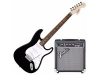 Perfect electric guitar starter kit with amp