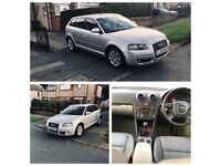 AUDI A3 2.0 5 DOOR + FSH + LEATHERS + WINTER PACK + SAT NAV + CRUISE