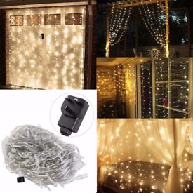 Curtain of Fairy lights, 6m wide x 3m long, perfect for wedding, party, or christmas decor