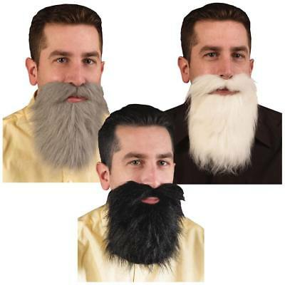Herren Erwachsene Grau Grau Bart Riesig Spitzbart & Schnurrbart Kostüm Zubehör