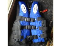 Lifejacket, size-small/child. Blue and black