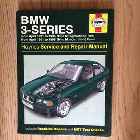 Haynes Manual for BMW 3 series E36