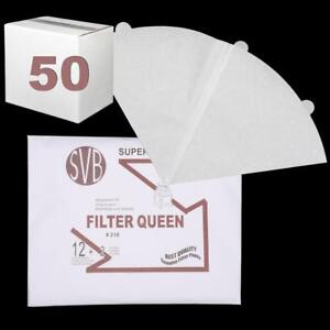 Queen Paper Cone 12 Pack & 2 Safety Filters Svb Case Of 50