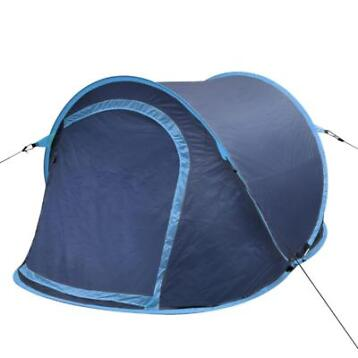 vidaXL Pop-up tent 2 personen marineblauw / lichtblauw