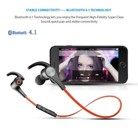 SoundPEATS Q12 Wireless Bluetooth Earphones with Magnetic Earbuds & Mic RED