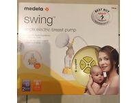 Medela Swing single electric breast pump + Medela breastfeeding starter kit