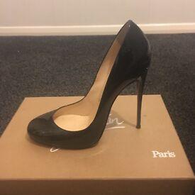 Christian Louboutin size 5 black patent heels