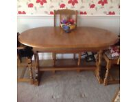 Oak Dinning Table 4 Chairs