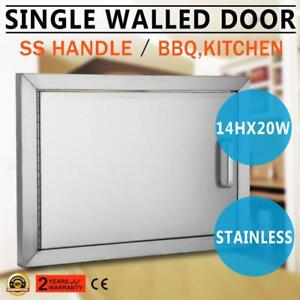 OUTDOOR KITCHEN / BBQ ISLAND STAINLESS STEEL ACCESS DOOR $PRICES IN DESCRIPTION - BRAND NEW - FREE SHIPPING