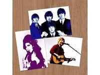 Customised Music Fan-Art (One-Off Print)