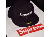 Supreme Box Logo x Playboy Snapback Hat Navy SS17