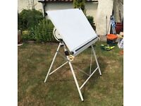 Drawing board full size. Adjustable height and tilt. Used by artist but originally draughtsman.
