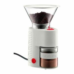 USED Bodum Bistro Electric Burr Coffee Grinder, White